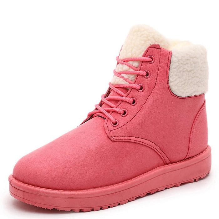 a81e7ed9d0e9b Classic Women Winter Boots Suede Ankle Snow Boots Female Warm Fur Plush  Insole High Quality Botas