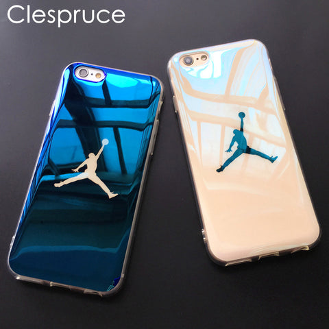 Clespruce Fashion Michael SuperNBA Jordan 23 Chicago soft Blu-ray laser Phone Case Back Cover For iPhone X 7 6 6s 8 Plus Cases