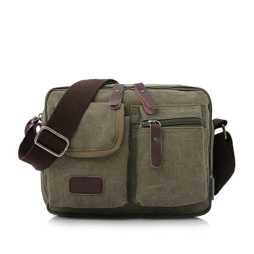 Cloth Shack  2018 New Fashion Vintage Men Canvas Shoulderbags High Quality Men Crossbody Bags Male Big Capacity Messenger Bags
