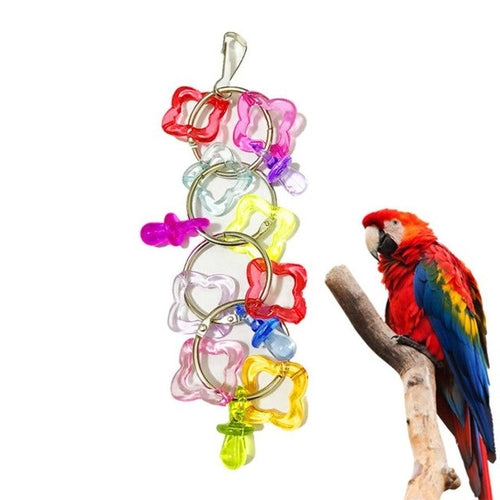 Colorful Pet Parrot Swing Bite Toy Non Toxic