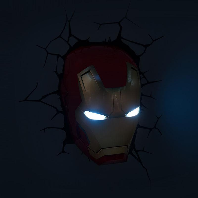 Creative marvel iron man shape 3d wall lamp avengers alliance led creative marvel iron man shape 3d wall lamp avengers alliance led night lights for kids room mozeypictures Gallery