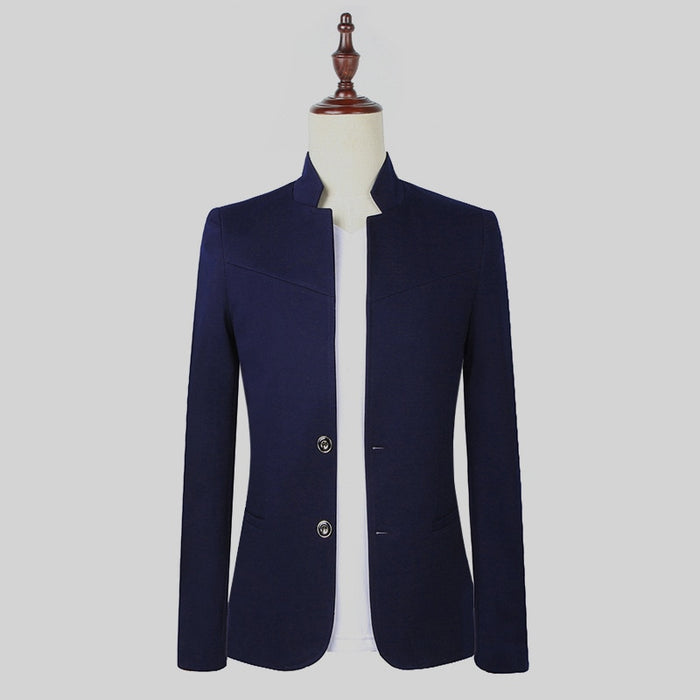 best quality nice shoes professional design Customized new hot men's suit Chinese style wedding groom groomsmen dress  tunic collar collar single-breasted suit jacket men