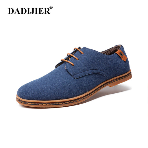 DADIJIER Men shoes 2017 New Fashion Suede Leather shoes Men Sneakers Casual oxfords for Spring Summer Winter shoes Dropshipping