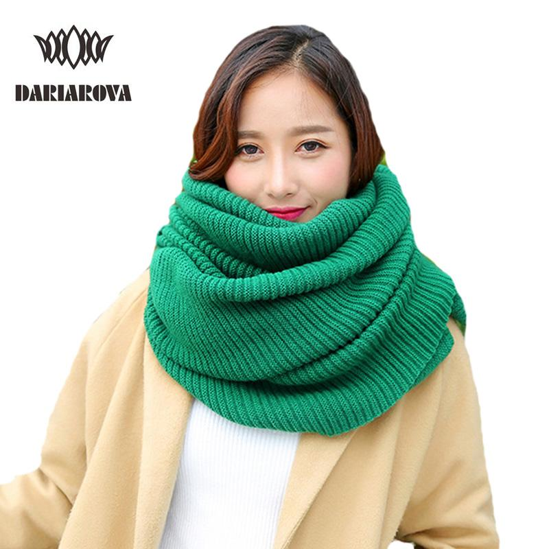 Dariarovawomen Fashion Winter Scarf Wool Knitted Scarves Shawls