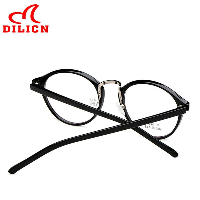 3fd6c20d462d DILICN TR90 Glasses Frame Women Brand Designer Optical Eyeglasses Frames  Female High Quality Retro Flower Oculos