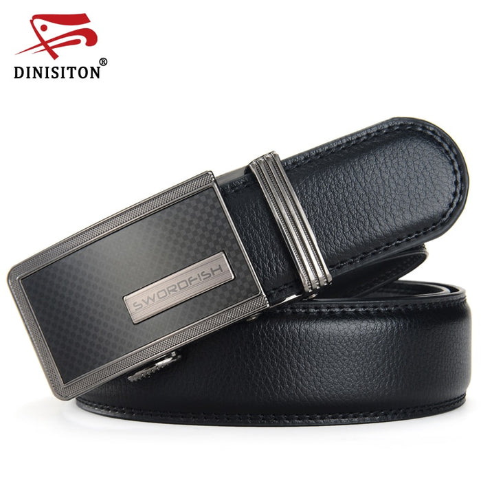 DINISITON Men Belts Fashion Men's Genuine Leather Belt Strap Designer Automatic Personality Belts Suit Trousers Belt