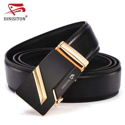 DINISITON New Arrival Designer Genuine Leather Men Belts High Quality Automatic Buckle Belt Man Strap Cinturones Hombre LZD004-5