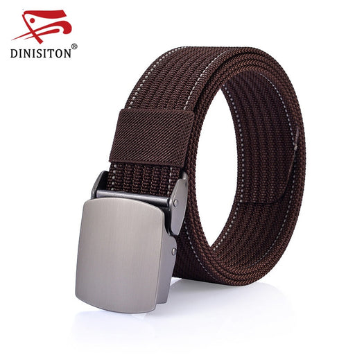 DINISITON New Arrival Men's Belt Canvas Strap Automatic Buckle Army Tactical Military Nylon Belts For Man High Quality CM20