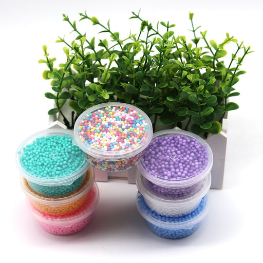 DIY Slime Supplies Box Snow Mud Particles Nail Decoration Accessories Foam Filler Mud Ball Toys for Kids