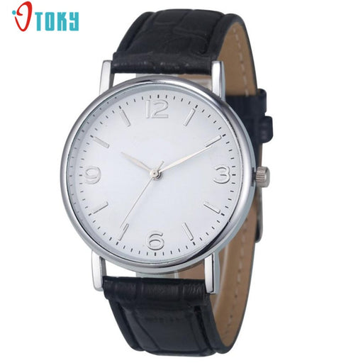Deluxe Business Crocodile Leather Women Men Watches Analog Quartz Unisex Wrist Watch Creative Jun19