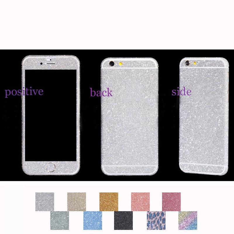 watch c2a82 5a016 Diamond Glitter Sticker Bling Rhinestone Shiny Film Front+Back Screen  Protector For iphone 7 7Plus 4.7 5.5inch Case Cover