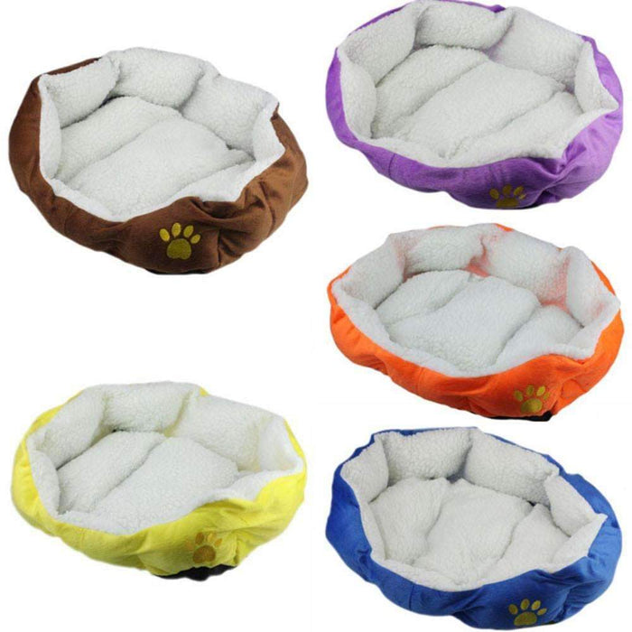 Dog Bed Kennel Fleece Warm Winter Soft Sofa Mats Rabbits Hamster Sleep Bag  House Nest Pad Cat Puppy For Small Dogs Cats BFOF