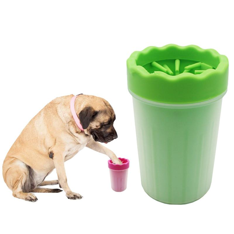 Dog Accessories Pet Foot Washer Cup Plastic Dog Foot Wash Tools Soft