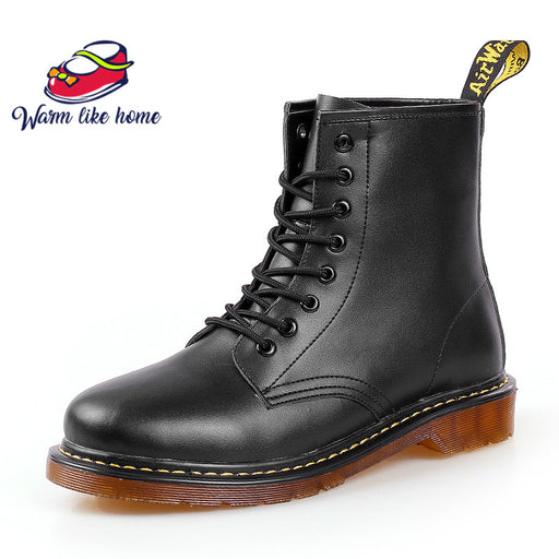 Drop shipping Brand Men's Boots Martens Leather Winter Shoes Motorcycle Mens Ankle Boot Doc Martins Autumn Men Oxfords Shoe