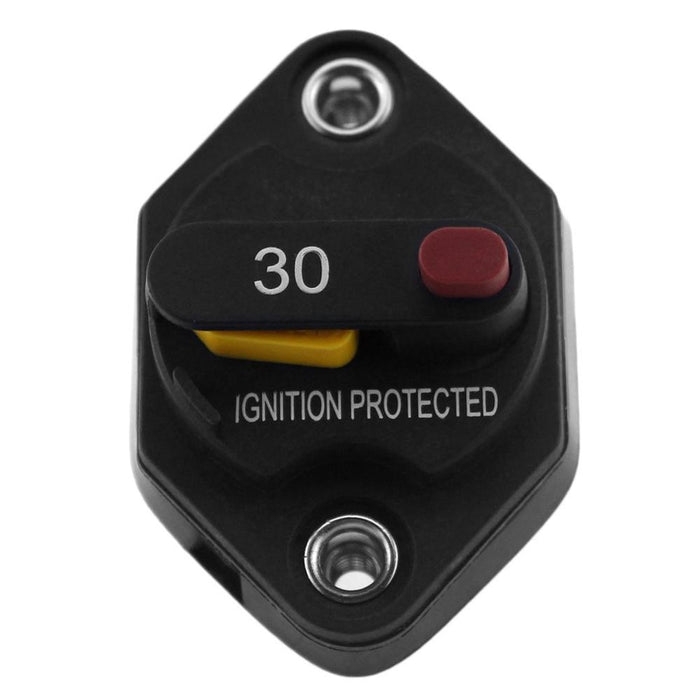 F1665 Mid-Range Circuit Breaker Waterproof Flush-Mount High Amp Switchable  With Manual Reset Thermal Circuit Breaker