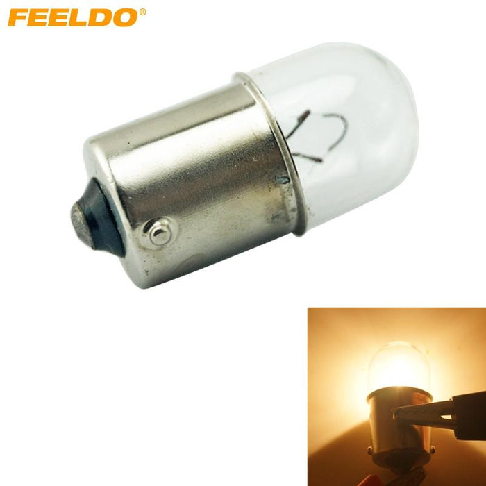 FEELDO 100pcs 24V 1156 BA15S T16 10W Truck Clear Glass Lamp Turn Tail Bulb  Auto Indicator Halogen Lamp#AM3163