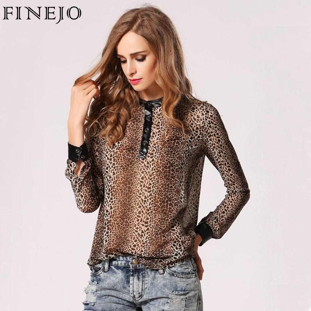 370dd539a3ee86 Animal Print Blouses Plus Size