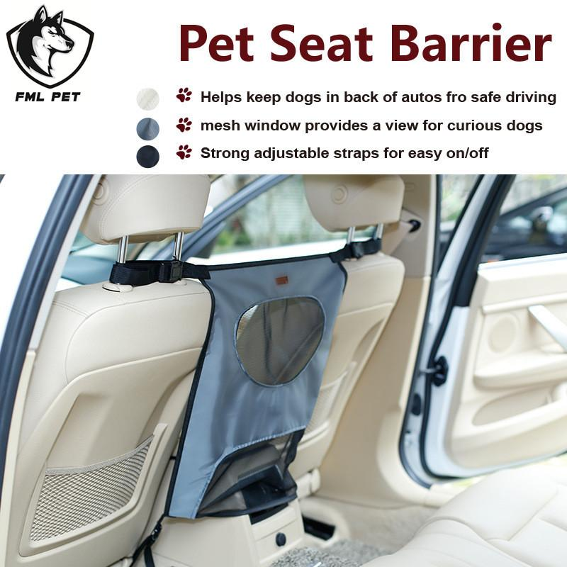FML Waterproof Durable Pet Seat Barrier For Car Back Prevent Dog Cat Jumping Harassment