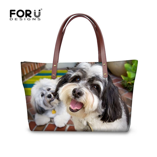 fb123dda27 FORUDESIGNS Havanese Dog Women Big Messenger Bags High Quality Bao Bao Totes  Cross-body Bag