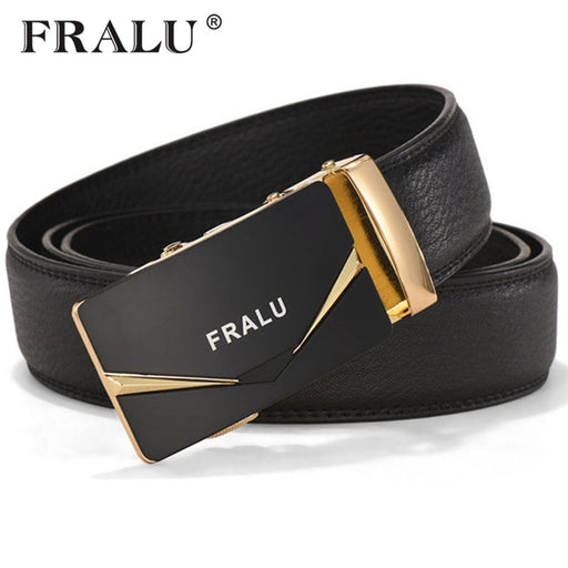 FRALU Fashion designer leather strap male automatic buckle belts for men authentic girdle trend men's belts ceinture