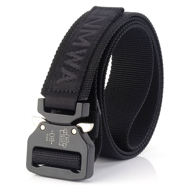 FRALU New Men's Belt Practical Tactical Military Nylon Canvas Waist Belt Waistband Tactical Belt cinturones para hombre