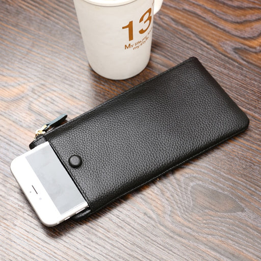 Famous Brand Genuine Leather Credit Card Holder Passport Cover Slim Travel Purse Female Male Men Woman Wallets Porte Carte 50