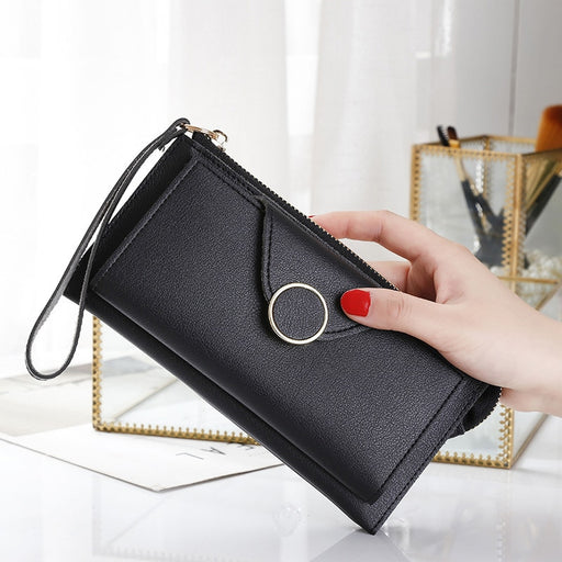Fashion Brand Female Wallet Case For iPhone 6S Xiaomi Mi A1 Phone Bag Long PU Leather Women Wallets Clutch Purse Card Carteira