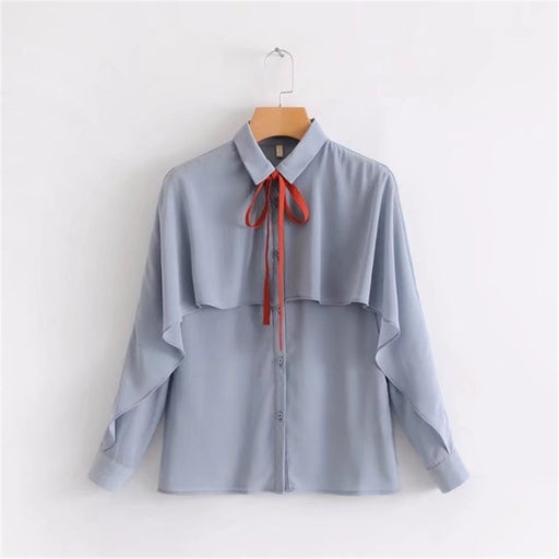 Fashion Elegant Shirt Girl Office Summer Tops Blouse Ruffles Decors Hot Sale Harajuku Femme Shirts New Arrival Loose Blouses