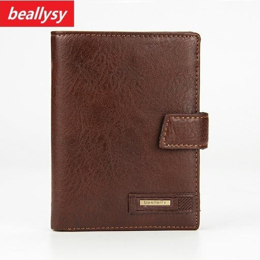 Fashion Men Wallet Genuine Cow Leather Large Capacity Travel Passport Cover Case Document Holder Credit Card Holder Coin Purse