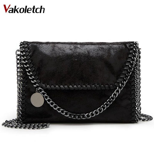 Fashion Womens design Chain Detail Cross Body Bag Ladies Shoulder bag clutch bag bolsa franja luxury evening bags A-175