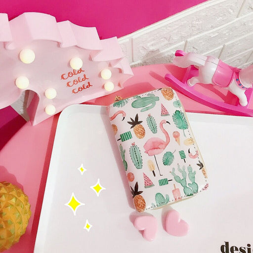 Fliamingo Strawberry Watermelon Fruit Girls Wallet Soft Cute Short Wallets Fashion New Handbags Cluth Daughter Gift Coin Purses