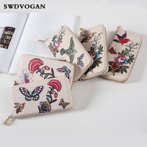 Flower Wallet Female Handbag Wallet Case for Xiaomi MI A1 Long Zipper Card Wallet Women Purse Phone Bag Case for Samsung A5 2017