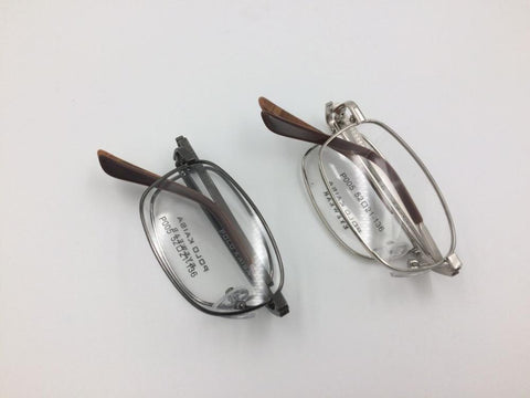 Folding Titanium Frame  Eyeglasses Men Optical Glasses Frame Optical Prescription Eyewear with case