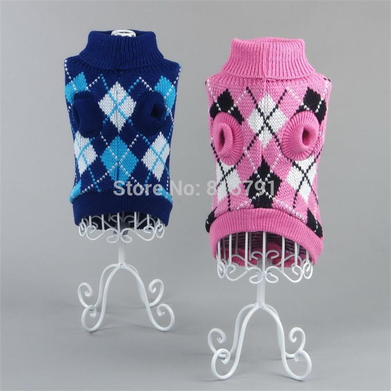 Free Shipping Pet Clothes Dog Sweater Autumn Winter Warm Knitting
