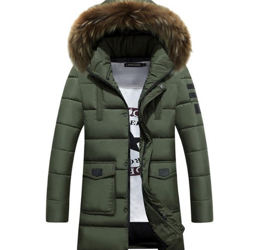 GVNDSJING New Winter Jacket Men  2018 Brand  Long  Parka men Coat Winter Men Down Jacket Thickening  Hooded 3XL