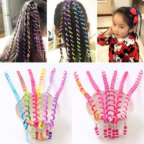 Girls Accessories 6 Pcs/Set Kids Curler Hair Braid