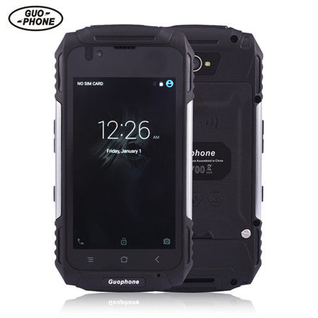 GuoPhone V88 smartphone android MT6580 quad core waterproof shockproof  phone 4 0Inch 1GB 8GB 8MP 3200mAh 3G mobile mhone