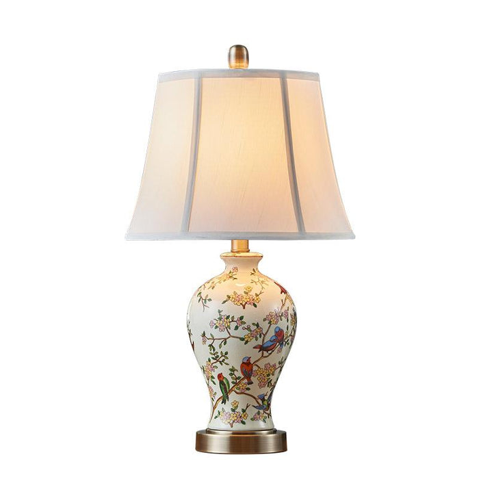 Hand painted art ceramic table lamp bedroom bedside lamp new Chinese ...