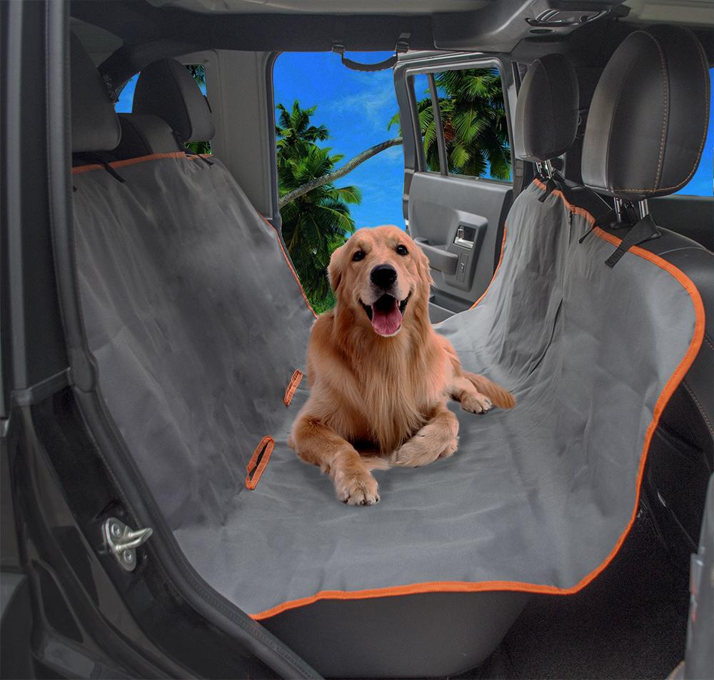 High Quality Waterproof Oxford PVC Coating Pet Car Seat Cover Hammock Rear Back Protector