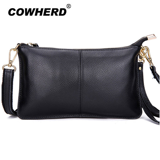 Hot sell 100% Genuine Cow Leather Envelope Clutch Designer Handbags High Quality Crossbody Womens Female Clutch Evening Bags