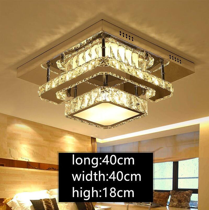 IWHD Crystal Plafon LED Ceiling Light Fixtures Avize Modern Bedroom Ceiling  Lamps For Living Room Lampara Techo Home Lighting