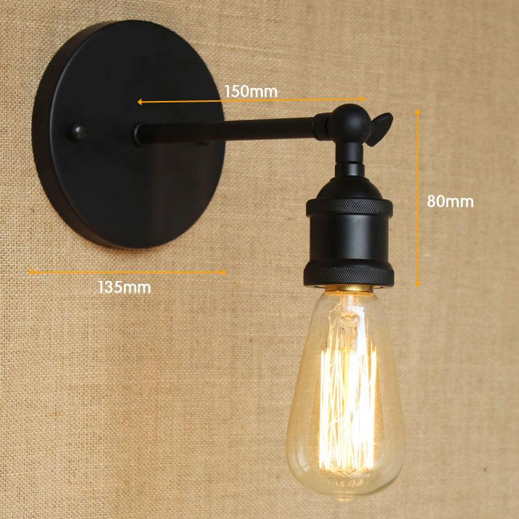 Iwhd gold copper vintage wall lamp home lighting arm edison retro iwhd gold copper vintage wall lamp home lighting arm edison retro wall light fixtures loft industrial aloadofball Choice Image
