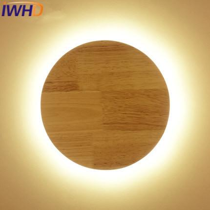 IWHD Wood Modern Wall Lamp Led Simple Children Room Wall Light ...