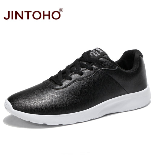 JINTOHO Big Size Men Casual Leather Shoes Fashion Men Sneakers Men Brand Shoes Black Male Leather Shoes Cheap Male Casual Shoes