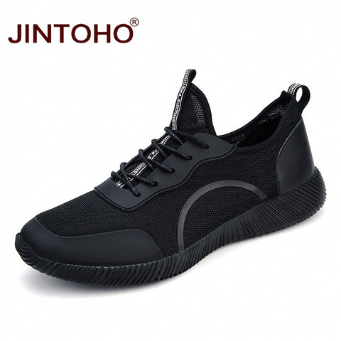 JINTOHO Big Size Unisex Summer Fashion Casual Men Shoes Breathable Mesh Male Shoes Brand Men Sneakers Cheap Sneakers Shoes