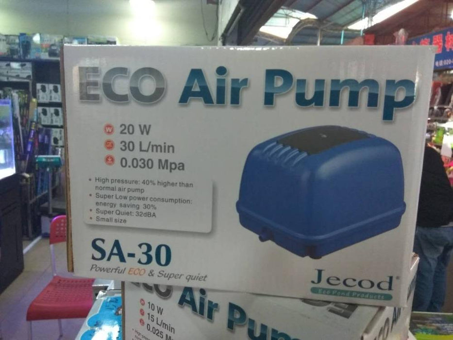 Jebao/Jecod 10W 20W air pump SA 15 30 Super Silent ECO Air Pump for Koi  Fish Septic Tank Hydroponics Aerator Air Compressor