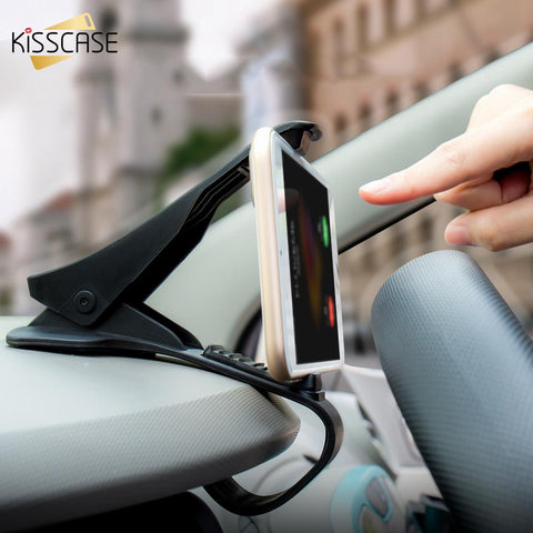 KISSCASE Universal Adjustable GPS Car Phone Holder For iPhone 6 Plus Anti-slip Dashboard Car Holder For Xiaomi Samsung Holder