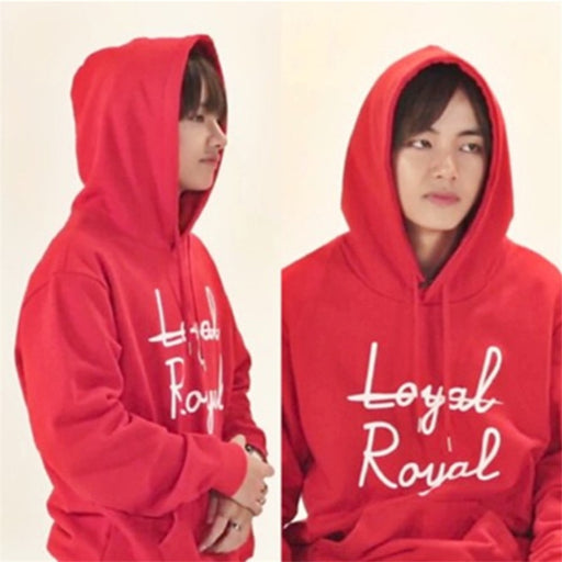 Kpop BTS Bangtan Boys V VAPP Same Cap Hoody Folk Song NOT LOYAL ROYAL Autumn Unisex Suit Long Sleeve Hoody Outerwears Coat