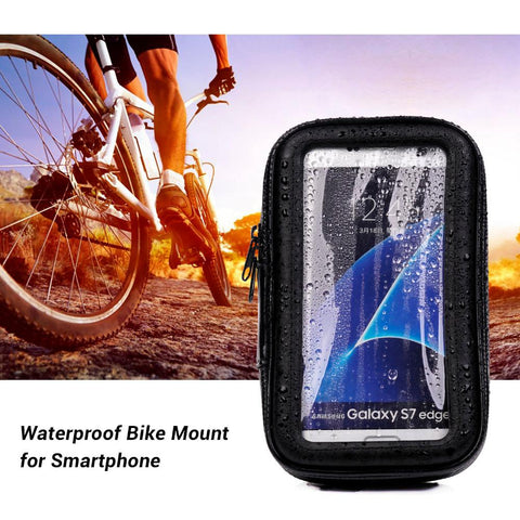 L Size Waterproof Bicycle bag Bike Mount Phone Holder Case for Xiaomi redmi 4X Samsung Galaxy s8 s7 s6 for iphone se 6 7 8 plus