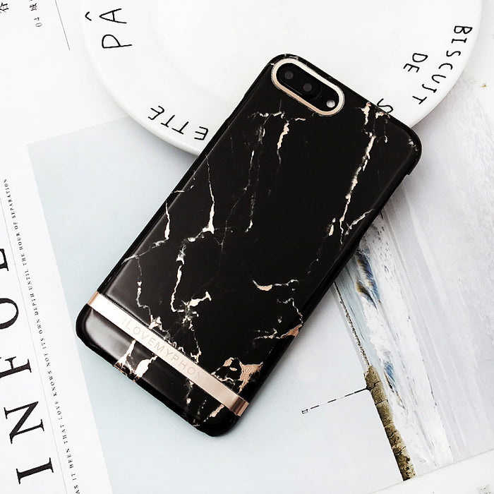 Lack Rose Gold Marble Print Phone Case For Iphone 6 Case Luxury High